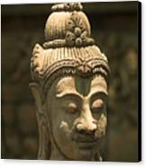 Terracota Statue Head Canvas Print
