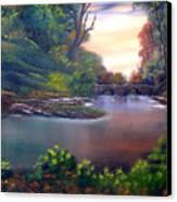 Terracotta Crossing Sold Canvas Print by Cynthia Adams
