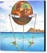 Tethered Sphere Canvas Print
