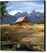 Teton Barn Canvas Print