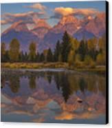 Teton Morning Mirror Canvas Print