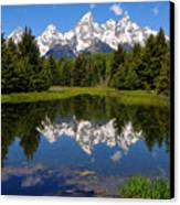 Teton Reflection Canvas Print by Alan Lenk
