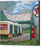 Texaco Gas Station Canvas Print