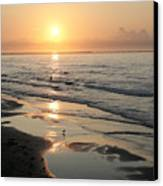Texas Gulf Coast At Sunrise Canvas Print