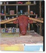 Texas Monster Longhorn Canvas Print by Michael Pasko