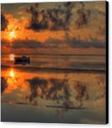 Texas Sunset Gulf Of Mexico Canvas Print by Kevin Hill