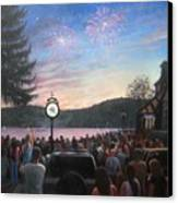the 4th of July on Lake Mohawk Canvas Print by Tim Maher
