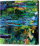 The Abstraction Of Beauty One And Two Canvas Print by John Lautermilch