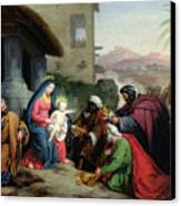 The Adoration Of The Magi Canvas Print by Jean Pierre Granger