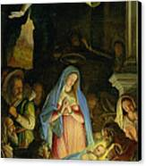 The Adoration Of The Shepherds Canvas Print by Federico Zuccaro