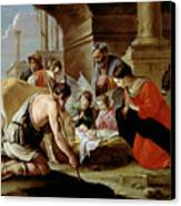 The Adoration Of The Shepherds Canvas Print by Louis Le Nain