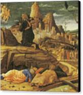 The Agony In The Garden Canvas Print by Andrea Mantegna