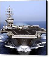 The Aircraft Carrier Uss Dwight D Canvas Print by Stocktrek Images