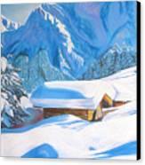 The Alpine Hut Canvas Print