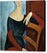 The Artist's Wife Canvas Print by Amedeo Modigliani
