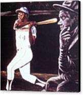 The Babe Looks On Canvas Print by Norman F Jackson