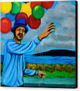 The Balloon Vendor Canvas Print by Cyril Maza