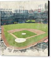 The Ballpark Canvas Print by Ricky Barnard