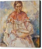 The Basket Maker Canvas Print by Ellen Dreibelbis