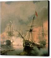 The Battle Of Navarino Canvas Print