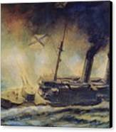 The Battle Of The Gulf Of Riga Canvas Print