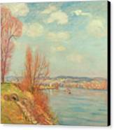 The Bay And The River Canvas Print by Jean Baptiste Armand Guillaumin