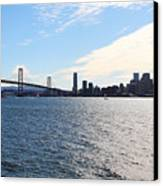 The Bay Bridge And The San Francisco Skyline Viewed From Treasure Island . 7d7771 Canvas Print