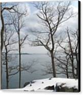 The Bay In Winter Canvas Print