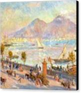The Bay Of Naples With Vesuvius In The Background Canvas Print
