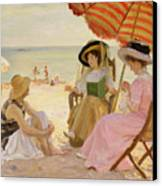 The Beach Canvas Print by Alfred Victor Fournier