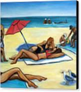 The Beach Canvas Print by Valerie Vescovi