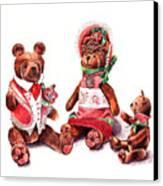 The Bear Family Canvas Print