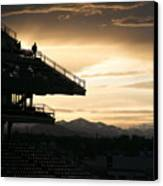 The Beauty Of Baseball In Colorado Canvas Print