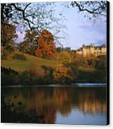 The Biltmore Estate Is Reflected Canvas Print by Melissa Farlow