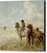The Bison Hunters Canvas Print