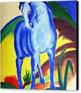 The Blue Horse Franc Marz Canvas Print