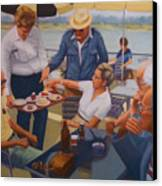The Boat Party Canvas Print by Diane Caudle