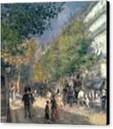 The Boulevards  Canvas Print by Pierre Auguste Renoir