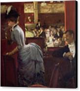The Box By The Stalls Canvas Print by Jean Beraud