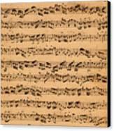 The Brandenburger Concertos Canvas Print by Johann Sebastian Bach