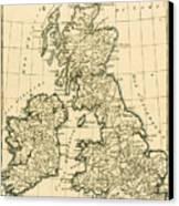 The British Isles Canvas Print