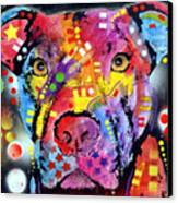 The Brooklyn Pitbull 1 Canvas Print by Dean Russo