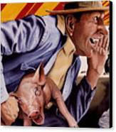 The Buffoon And The Countryman Canvas Print by Denny Bond