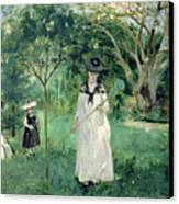 The Butterfly Hunt Canvas Print by Berthe Morisot