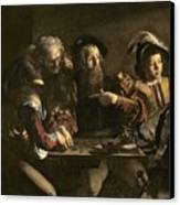 The Calling Of St. Matthew Canvas Print by Michelangelo Merisi da Caravaggio