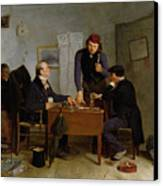 The Card Players Canvas Print by  Richard Caton Woodville