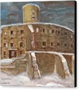 The Castle Canvas Print by Anna Folkartanna Maciejewska-Dyba