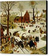 The Census At Bethlehem Canvas Print