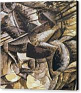 The Charge Of The Lancers Canvas Print by Umberto Boccioni