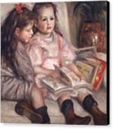 The Children Of Martial Caillebotte Canvas Print by Pierre Auguste Renoir